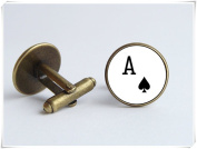 Ace card cufflinks Playing card jewellery Poker jewellery