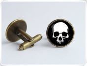 Christmas gift Skull cuff links Skull jewellery Men cufflinks