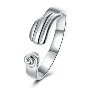 Aooaz Copper Mens Ring Jewellery Spiral Open White Wedding Bands Retro