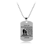 CMJ To My Son Military Army Style Dog Tag Mens Pendant Necklace UK Seller