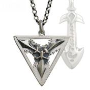 HFJ & YIE & H Men's tide Thai silver necklace European and American fashion personality League of legends 925 silver jewellery pendants