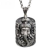 HFJ & YIE & H Domineering pendants S925 silver tide men's pendants retro Thai silver elephant silver necklace personality men and women jewellery