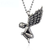 HFJ & YIE & H Necklaces Men 's Jewellery Vintage Europe and the United States Pendant Angel Wings Hipster Necklace Birthday Gifts Men