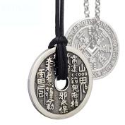 HFJ & YIE & H Men and women silver necklace 925 Silver Thai retro silver jewellery accessories domineering pendant pendant sweater chain
