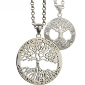 HFJ & YIE & H 925 silver men's necklace Thai silver pendant life tree jewellery boys and girls influx of people gifts