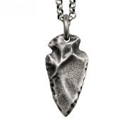 HFJ & YIE & H Men's tide Thai silver clavicle chain short necklace 925 Silverstone Arrow Pendant Vintage girls accessories