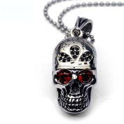 HFJ & YIE & H Men's titanium steel necklace pendant necklace Europe and the United States fashion personality exaggerated skull nightclub accessories hanging