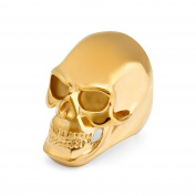 Purmy Mens Wedding Band Stainless Steel Ring Golden Skull Ring Halloween Gift Gold 1PC Size P 1/2-Z 1/2