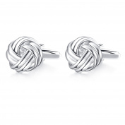 Hanana Knot Cufflinks for Men Shirt, Stainless Steel, Ideal for Father's Day Wedding Christmas Gift
