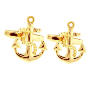 Hanana Cufflinks for Men Shirt,Stainless Steel,Ship Boat Anchor Sailing Sailor for Father's Day ,Xmas Wedding Gift