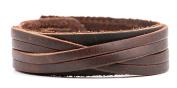good. Designs Surfer Leather Bracelet for Men In Brown or Black Adjustable Genuine Leather Bracelet For Men and Women
