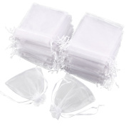 Anladia 100pcs Organza Gauze Jewellery Packing Pouch Wedding Favour Candies Gift Bags
