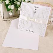 Anladia White Wedding Invitations Laces Laser Cut Free P*P Free Envelopes 10pcs