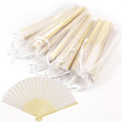 Anladia Handheld Pretty Fan - Wedding Accessory & Favour - Fabric Summer Keep Cool Hand