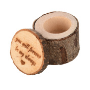 1pc Wedding Ring Box Wooden Engraved Wood Ring Holder for Bearer Wedding Gifts Couples