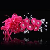 KPHY-Korean Style Exquisite Bride Headdress Pearl Diamond Wedding Headdress Flower Photo Studio Photo Shoot