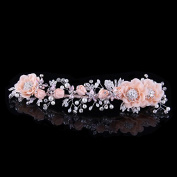 KPHY-Korean Rich High-End Handmade Bride Headdress Hair Ornaments And Flower Frontlet Pearl Diamond Wedding Wedding Accessories