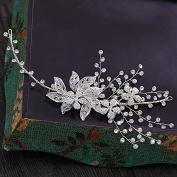 KPHY-The Bride Wedding Diamond Alloy Headdress Hair Ornaments Hair Ornaments Flower Wedding Dress Accessories