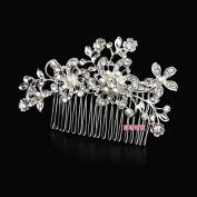 KPHY-Bride Korean Makeup Comb Wedding Wedding Dress Headdress Hair Ornaments Accessories Comb Pearl Jewellery Alloy