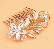 MDRW-Bride Wedding Prom Hair Pins The Gold Alloy Retro Butterfly Comb Comb Ornaments Crystal Flower Dress Accessories Diamond Ornaments