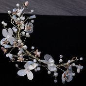 MDRW-Bride Wedding Prom Hair Pins _Bridal Jewellery Handmade Headwear Silk Yarn Flowers Ndress Bridal Jewellery Accessories Crown
