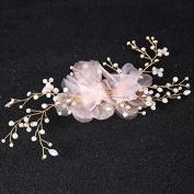 MDRW-Bride Wedding Prom Hair Pins Thehair Headdress _ Simple Hand Cloth Headdress Flower Hair Accessories Hairpin