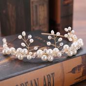MDRW-Bride Wedding Prom Hair Pins _ Jewellery Handmade Pearl Hair Lead Buckledress Accessories Withaccessories