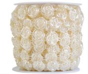 Rose cotton thread beads 10 m headdress hair accessories DIY jewellery accessories white / beige , beige