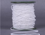 Christmas celebration decoration thread cotton pearl string 50 metres Halloween bead curtain white / beige , white
