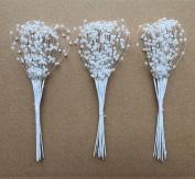 Handmade Beaded Wedding Decorations Halloween Beads 100 Beads Wedding Flowers Beaded DIY Jewellery White
