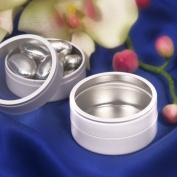 White Circle Mint Tin