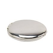Silverplated Round Compact Mirror