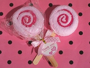 Sweet Treats Collection Pink Lollipop Towel Favour