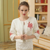 Women's Wrap Shrugs Faux Fur Wedding Party/ Evening Embroidery