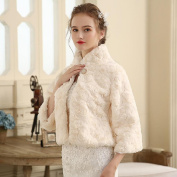 Women's Wrap Shrugs Faux Fur Wedding Party/ Evening Buttons Fur