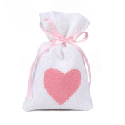 Zimo 10Pcs Jute Burlap Jewellery Gift Bags with Drawstring,Heart Pattern Candy Bgas For Wedding Party