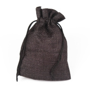 Zimo 10Pcs Handmade Jute Burlap Jewellery Gift Bags with Drawstring,Retro Candy Bags For Wedding Party Favour