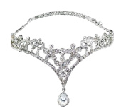 ZHJZ Wedding Bridal Rhinestone Heart Crowns Headpiece for Pageant