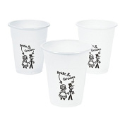 50 x Plastic Happy Couple Disposable Cups