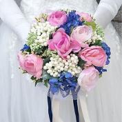 "LNPP Wedding Flowers Bouquets Wedding Polyester 9.84"""