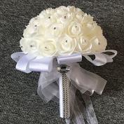 "LNPP Wedding Flowers Bouquets Wedding Tulle Foam Satin 9.84"""