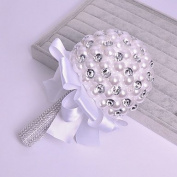 "LNPP Wedding Flowers Bouquets Wedding Bead Satin 5.51"""