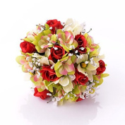 """LNPP Wedding Flowers Round Roses Bouquets Wedding Party/ Evening Satin 11.8"""""""
