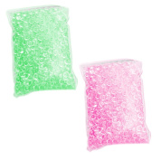 150g Clear Fish bowl Beads for Homemade Slime DIY Craft Accessories Home decor Wedding Party Decoration Rose + Green