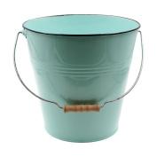 Green Pastel Coloured Decorative Buckets Wood Handle