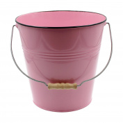 Pink Pastel Coloured Decorative Buckets Wood Handle