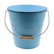 Blue Pastel Coloured Decorative Buckets Wood Handle