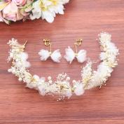 Bride headdress earrings wedding dress brides maid accessories wreath