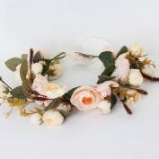 Wreath hair ornaments bride wedding dress head flower hand DIY simulation flower headdress
