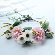 Hair band wreath bride photo wedding bridesmaid holiday hair ornaments